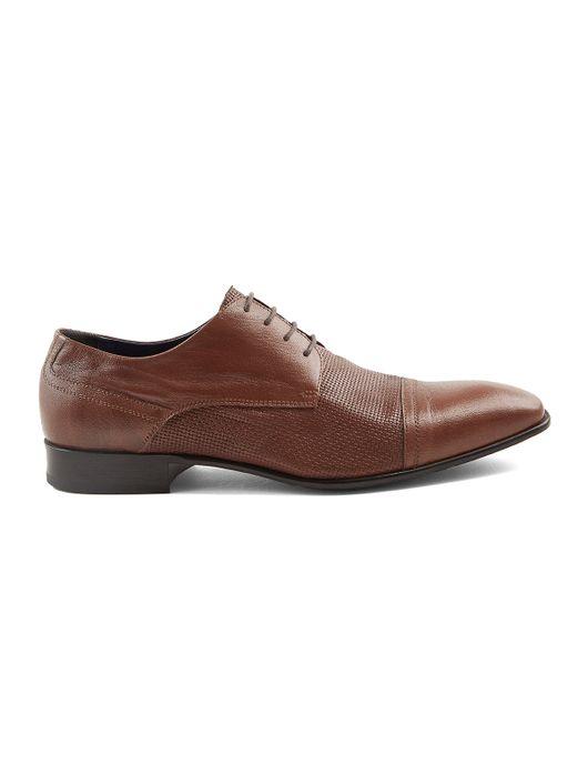 d39fbbe238b Zapato Formal de Cuero con Textura 79115