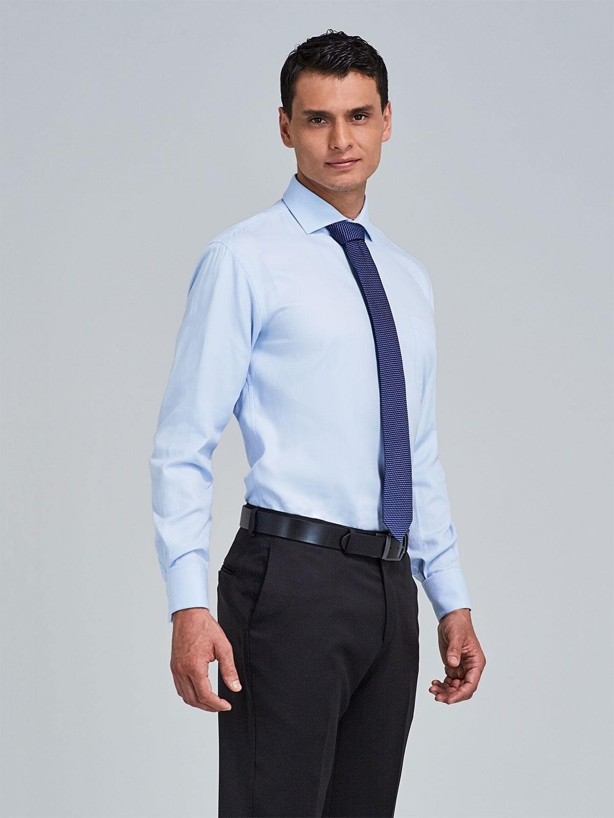 7ee175d82e Camisa Formal Slim Fit Unicolor con Textura 85621 - Arturo Calle