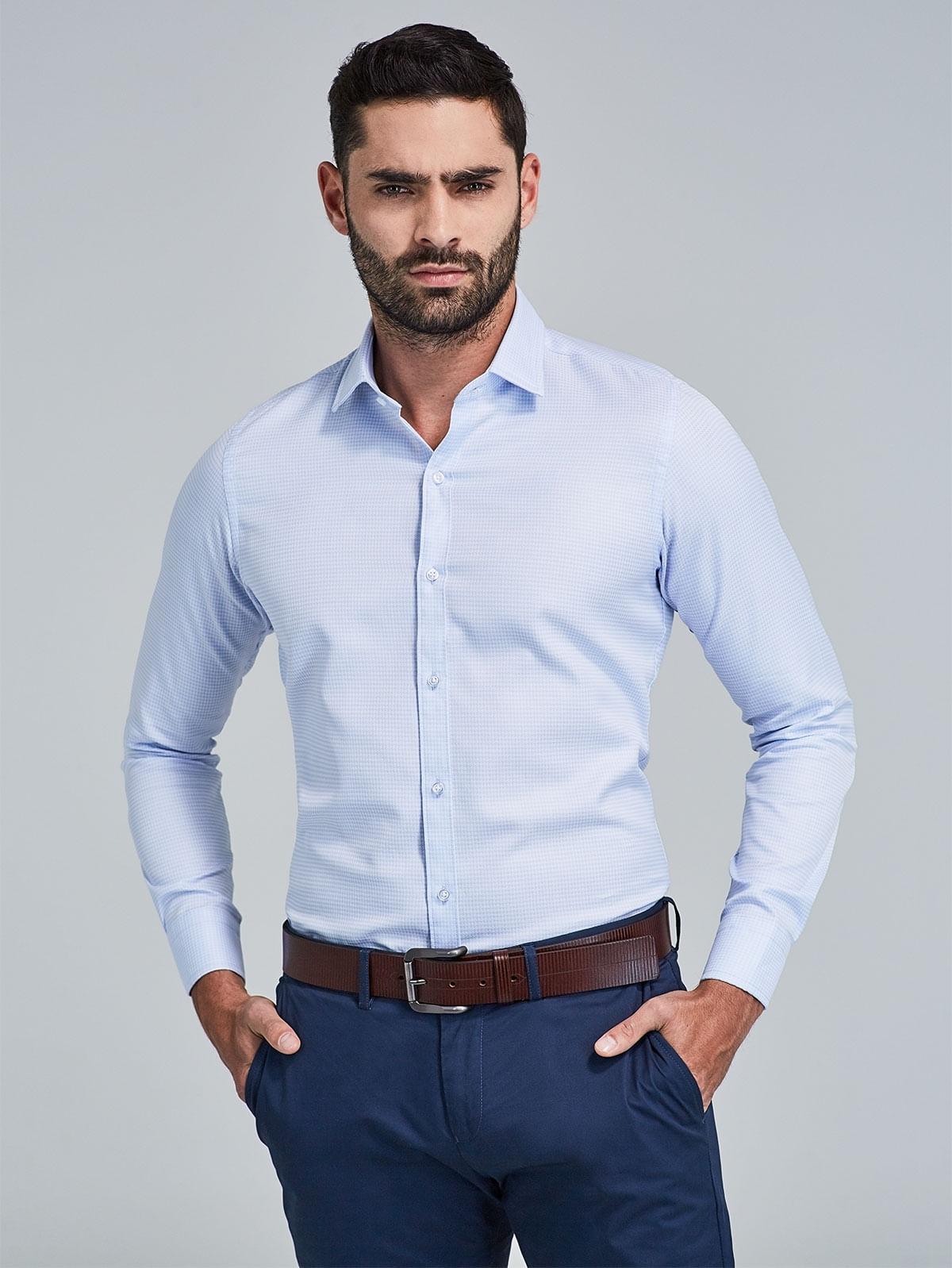 fd8f65ee25 Camisa Regular Fit con Textura 75357 - Arturo Calle