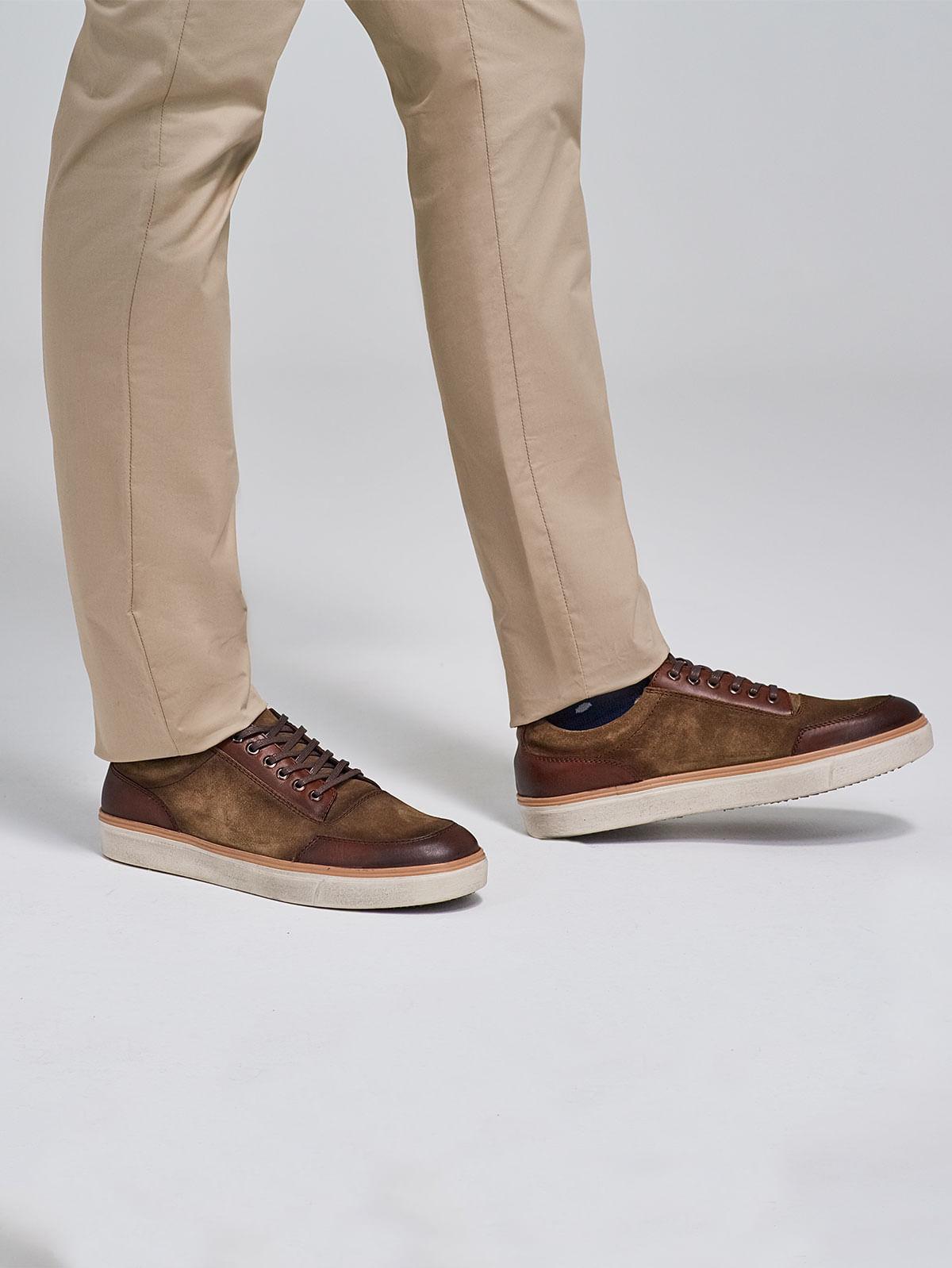 Zapato de Cuero Tipo Sneaker con Cordones 81816 - Arturo Calle 25c3de75ddd70