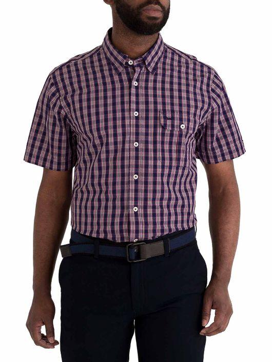 71c351d30e1 Camisa Slim Fit Cuadros Manga Corta 83613.  75.000. Detalles Comprar. HOMBRE -CAMISA-10082517-AZUL 1