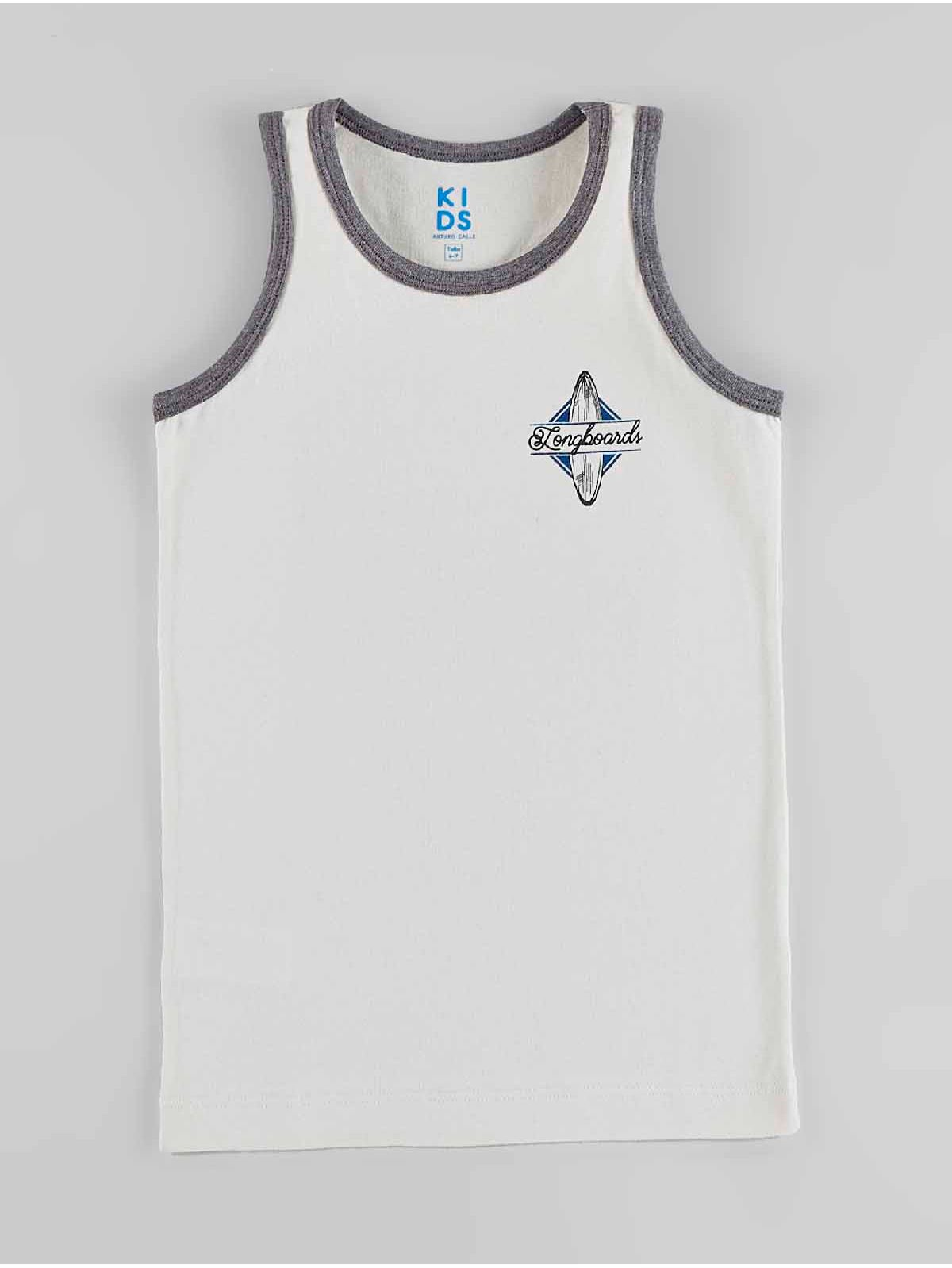 nueva estilos b1cd0 78019 Camiseta Esqueleto Estampada para Niño 00777